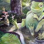 """""""Frogs Garden"""" by lesliehoopswallace"""