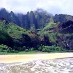 """Kalalau Beach Mountains"" by skystudiohawaii"