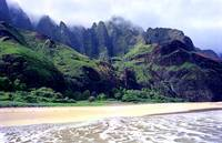Kalalau Beach Mountains