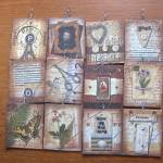 """altered art tags-pendants"" by DOTTYP"