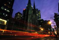 St. Patrick's Cathedral Traffic Blur