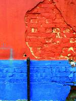 ORANGE-BLUE BRICK WALL, EDIT B