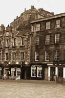 The Grassmarket & Edinburgh Castle Aged