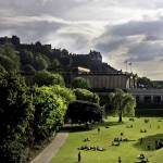 """Edinburgh Castle & Princes Street Gardens"" by imagesbycadac"