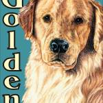 """Blue Pop Pup Golden Retriever"" by KathleenSepulveda"