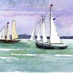 """penobscot sail"" by windingwaywatercolors"
