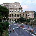 """Roman Colosseum Traffic Blur"" by dennisflood"