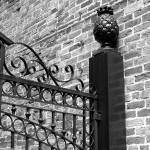 """New Orleans Pineapple Gate Black and White"" by KerryFletcher"