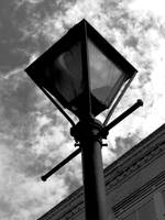 New Orleans Lamp Post Black and White