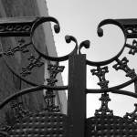 """New Orleans Gate Black and White"" by KerryFletcher"