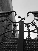 New Orleans Gate Black and White