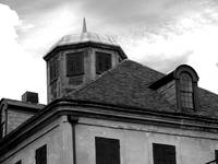 New Orleans Copper Roof Black and White