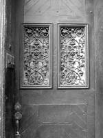 New Orleans Grey Door Black and White