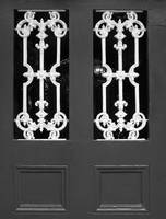 New Orleans Black and White Door