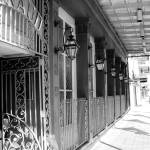 """New Orleans Shops Black and White"" by KerryFletcher"