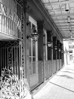 New Orleans Shops Black and White