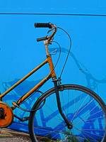 Orange-Bike, Blue-Wall