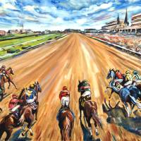 From the Starting Gate (version 2) Art Prints & Posters by Ashley Cecil