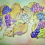 """A bunch of grapes (Watercolours)"" by raheli"