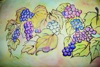 A bunch of grapes (Watercolours)