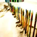 """Abstract March of the Colored Picket Fence"" by ElainePlesser"