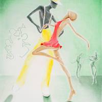 Salsa At 'El Aguila' Disco Art Prints & Posters by Kenneth Dames
