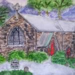 """Valle Crucis Church"" by magnoliadorn"