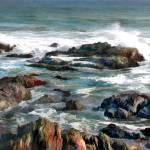 """""""Rocky Ocean Shoreline II"""" by ElainePlesser"""
