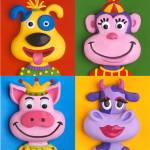 """""""Four Animal Faces"""" by AmyVangsgard"""