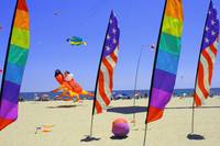 OC Beach Kites and flags