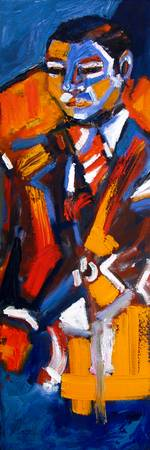 Abstract Modern Man Oil Painting by Ginette