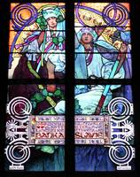 Alphonse Mucha stained glass window detail