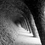 """Gaudi Columns 1, Parc Guell, Barcelona"" by gudenius"