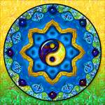 """Yin Yang Mandala_22a"" by ravenswingstudio"