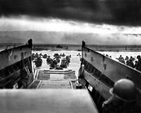 Troops from the First Division landing on Omaha Be by WorldWide Archive