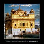 """Golden Temple Front - With Quote"" by SikhPhotos"