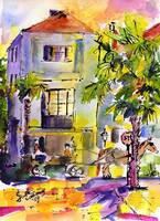 Charleston SC Carriage Ride Watercolor by Ginette