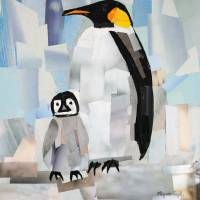 """Mr Penguin and Baby Penguin"" by Megan Coyle"