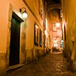 """Griechengasse @ night"" by webguruAT"