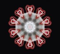 Twisted 1 Red Kaleidoscope Art 1