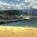 """Beach at Sandpoint"" by SamSherman"