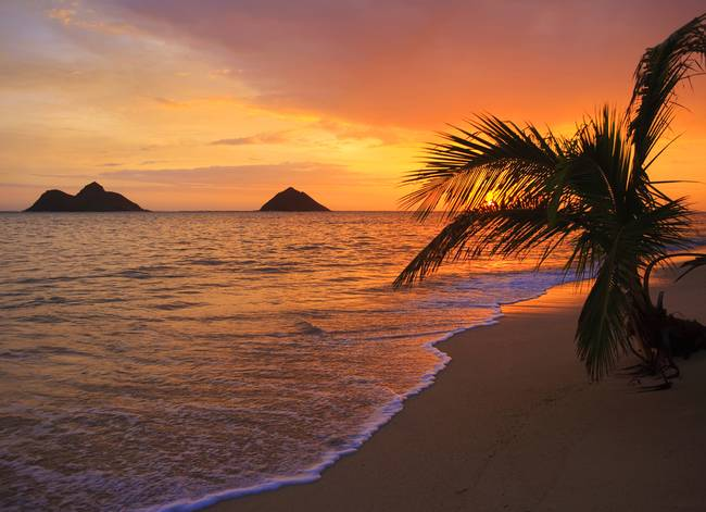 Hawaiian Beach Sunrise Pacific At Lanikai