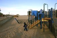 Kids on the Beach Playground in Winter