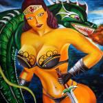 """dragonlady"" by RedBoxBelle"