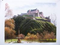 Majestic Edinburgh Castle - oil on canvas