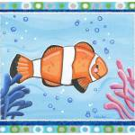 """""""Clown Fish (with border)"""" by Littlepig"""