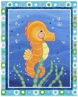 Seahorse (with border)