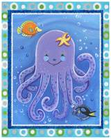 Purple Octopus (with border)