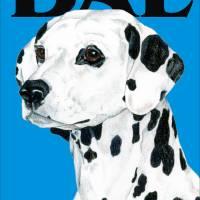 Blue Pop Pup Dalmatian Art Prints & Posters by Kathleen Sepulveda