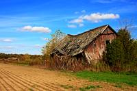 Old barn in county